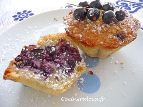 petits gâteaux au cassis et à la crème d'amande | la cocinera loca