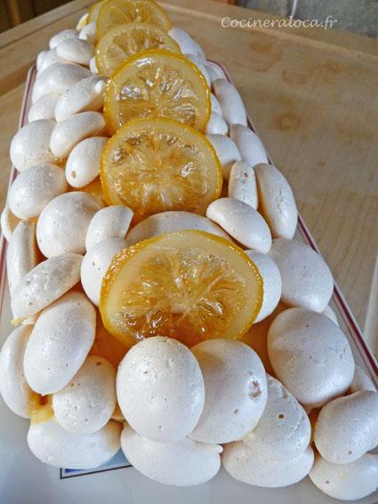 bûche meringue citron