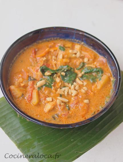 Soupe Senegalaise Au Poulet Beurre De Cacahuetes Et Lait De Coco