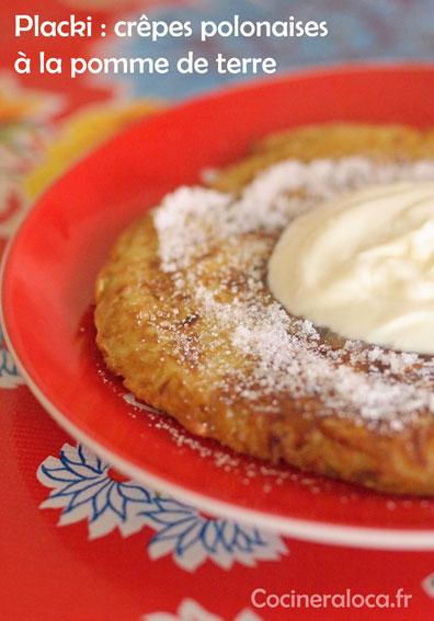 placki ou platski crêpes polonaises à la pomme de terre ©cocineraloca.fr